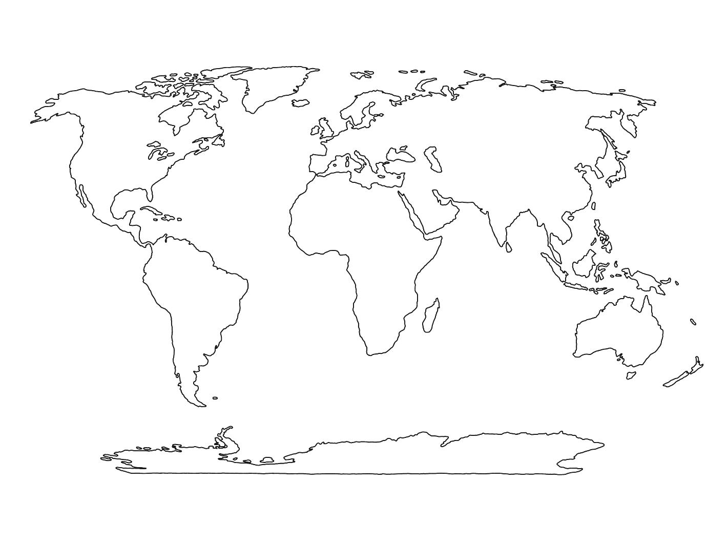 Continent clipart world political Education World Printable C Map