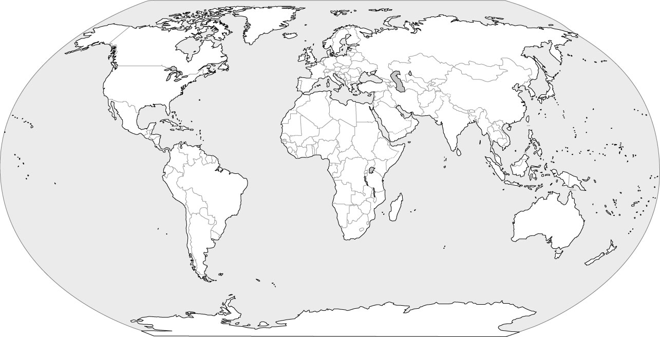Continent clipart world political With Blank Map World World