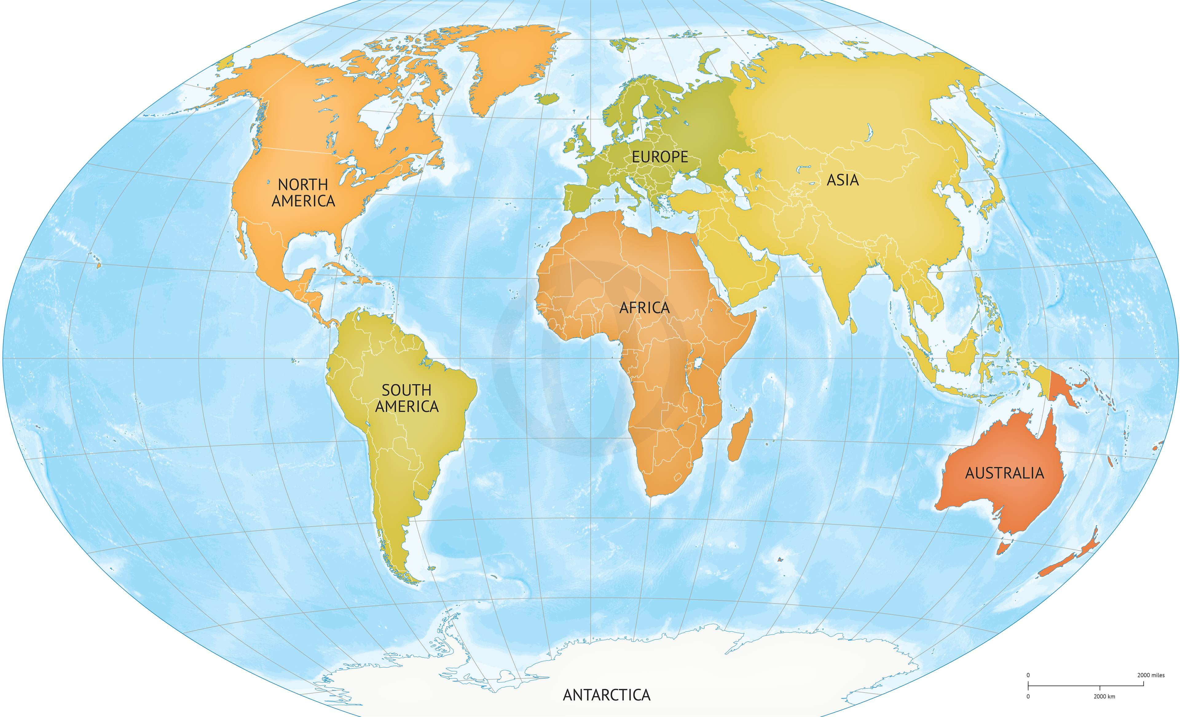 Continent clipart world political Coloring Map World  South
