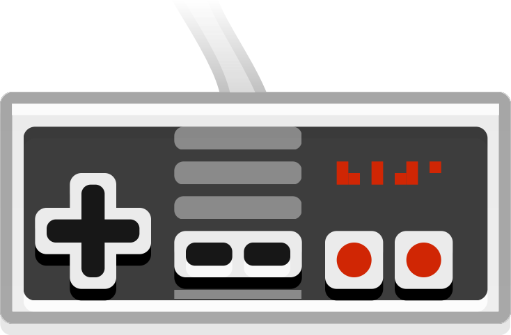 Controller clipart old school Clip Game Old clip Nes
