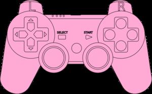 Controller clipart pink Clip Clip at vector Art