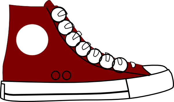 Red clipart running shoe Sneaker clipart about converse 0