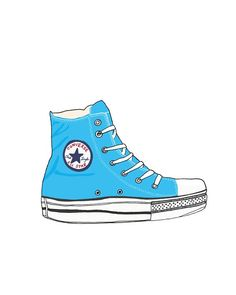 Drawn converse clip art This and converse more illustrations