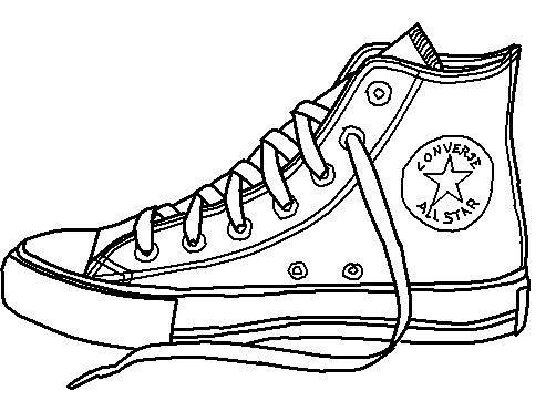Drawn shoe artwork 0 clip sneakers Clipartix converse