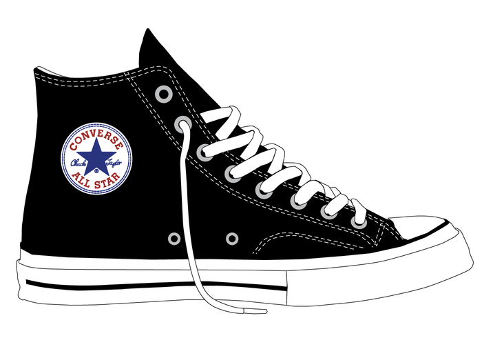 Shoe clipart converse all star All Chuck Template Download Vector