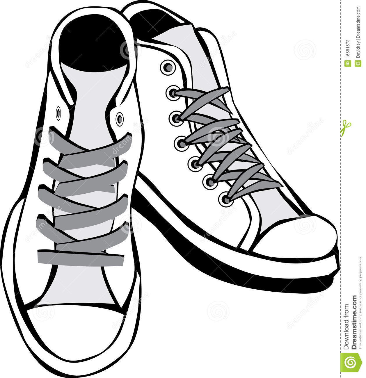 Converse clipart black and white And Black white black Clipart