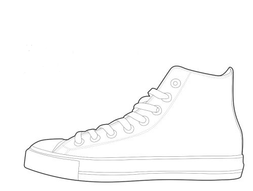 Converse clipart black and white On Art Becuo Download Shoe