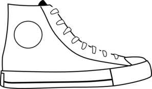 Converse clipart black and white Collection clipart Shoe Art schliferaward