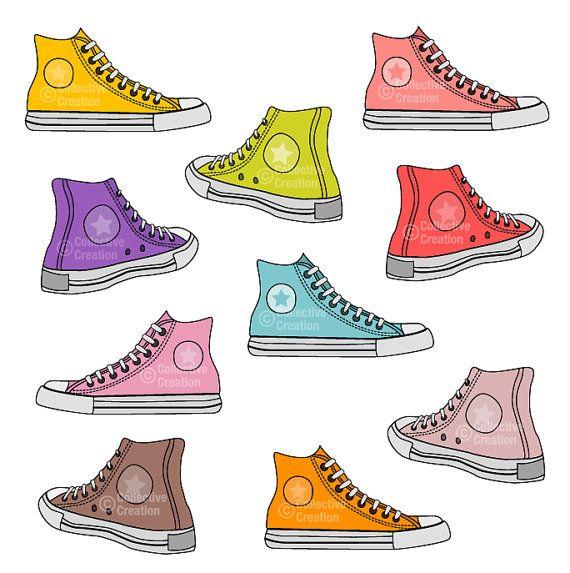 Converse clipart brown Set Shoes images best Clip