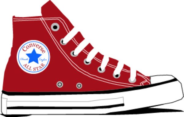 Shoe clipart converse all star Google shoes clipart Google shoes