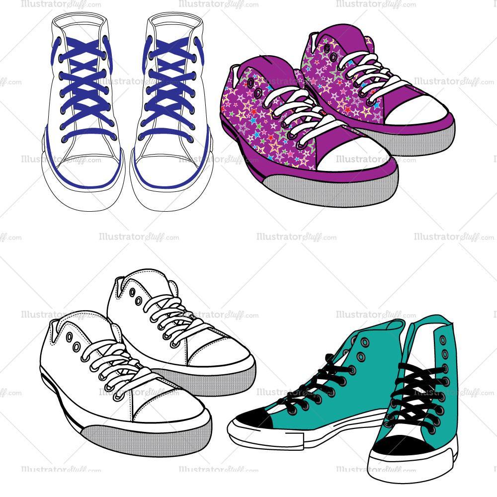 Converse clipart flat shoe Shoes Converse Flat Fashion Template