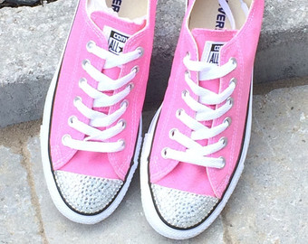 Converse clipart flat shoe Pink Rhinestone Top Low Top