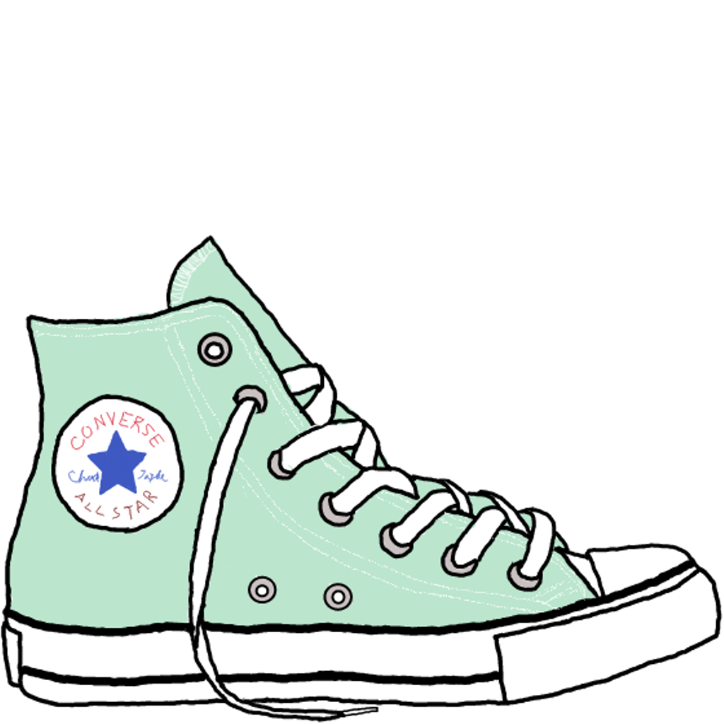 Drawn sneakers cute shoe CONVERSE CONVERSE