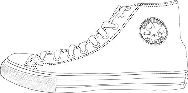 Converse clipart outline Clip Free TheConverseClub Outline Free