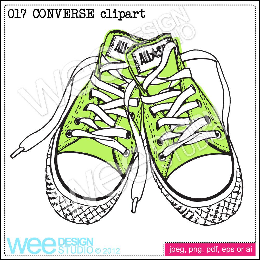 Converse clipart pastel Digital file CONVERSE This clipart