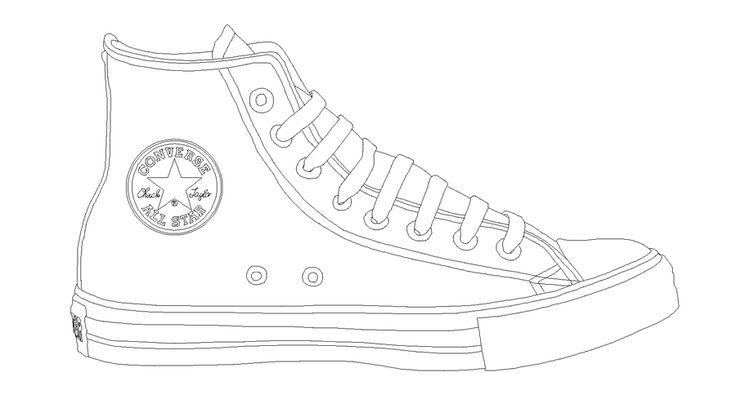 Shoe clipart converse all star Template nemcu template STAR ALL