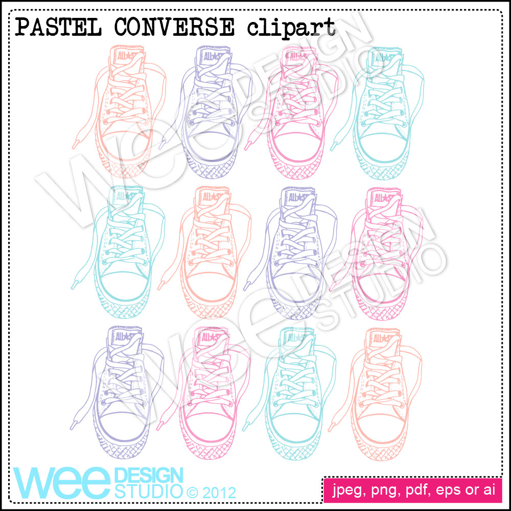 Drawn converse clip art Is digital digital file clipart