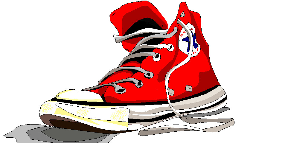 Converse clipart red converse Shoe Se4n by MS Windows