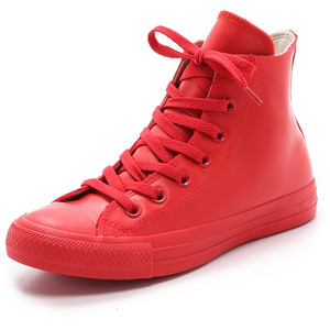 Converse clipart rubber shoe Red Converse Polyvore Coated All