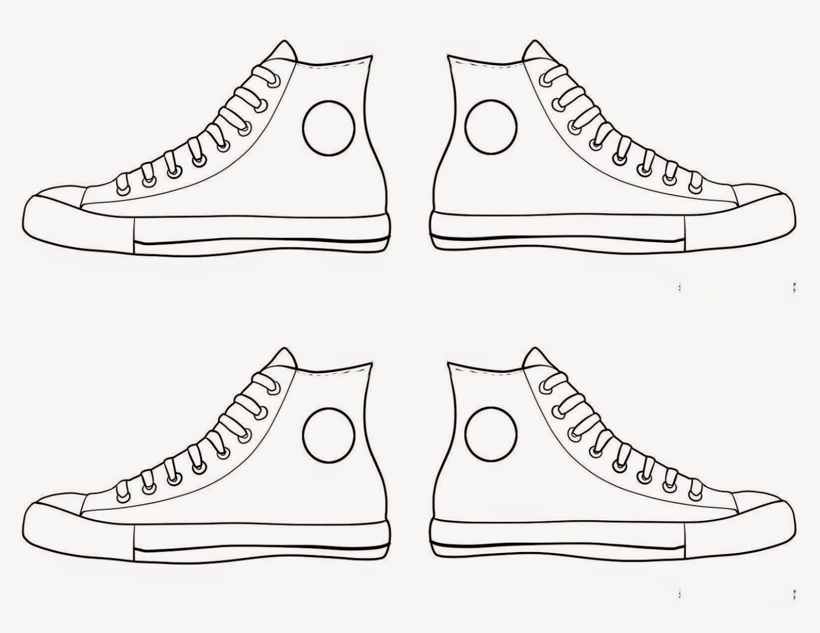Converse clipart school shoe Print coloring shoe pattern Template