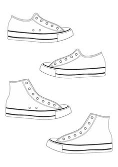 Converse clipart school shoe Converse Templates coloring download Tennis