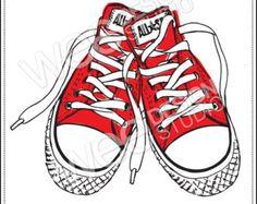 Converse clipart school shoe Shoe Thema and CONVERSE Artsy