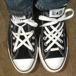 Converse clipart shoelace White  with Stars All