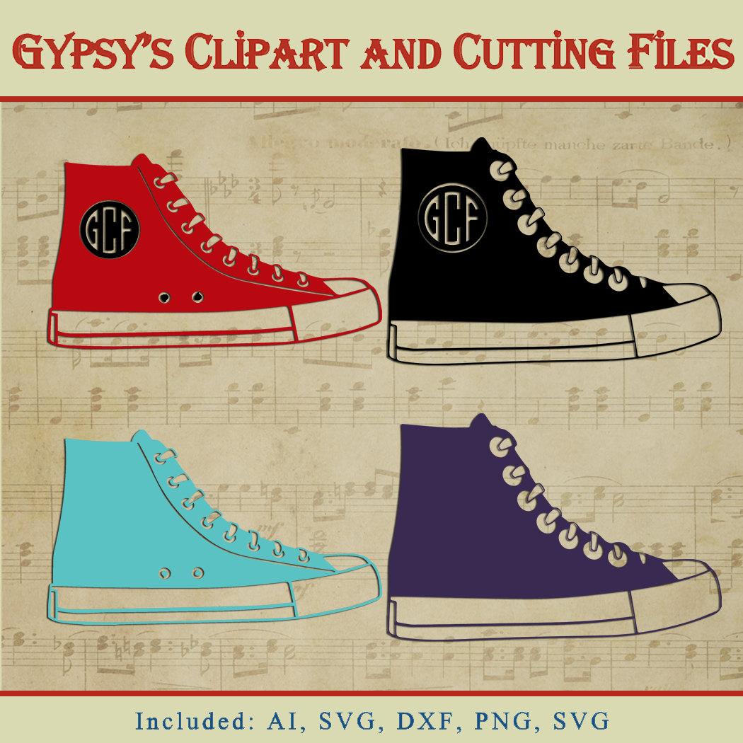 Converse clipart silhouette Shoe Converse Clipart SVG a