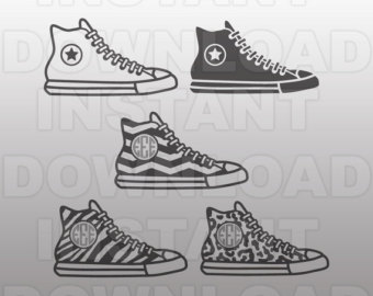 Converse clipart silhouette File Etsy & Use Vector