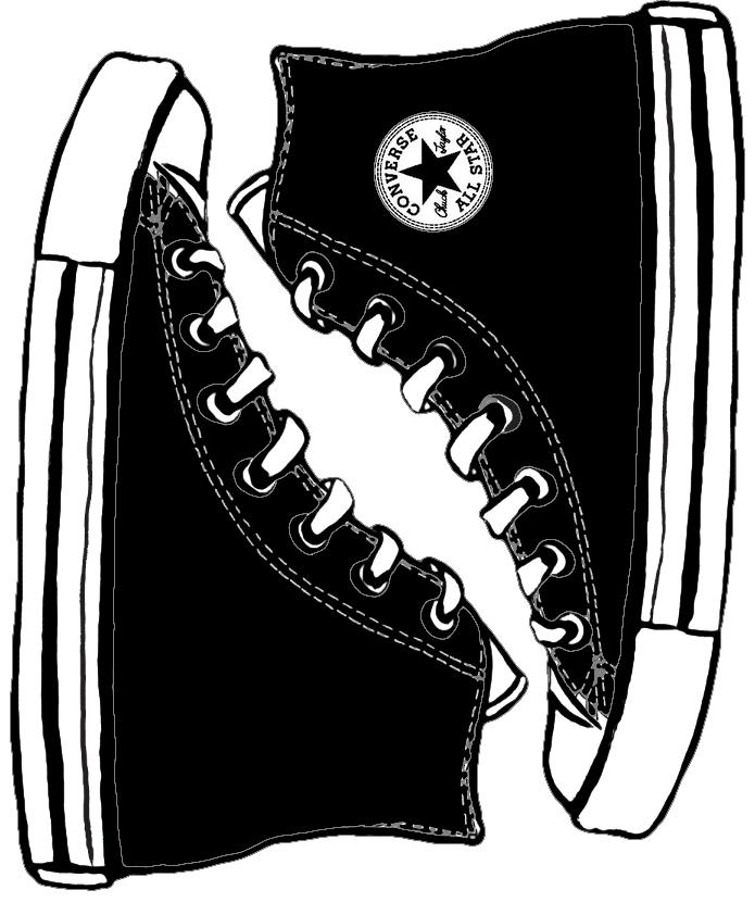Converse clipart silhouette Com deviantart @deviantART Converse template