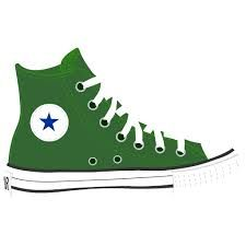 Converse clipart silhouette Art  and Black Hightop