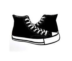 Converse clipart silhouette On best bw silhouette images