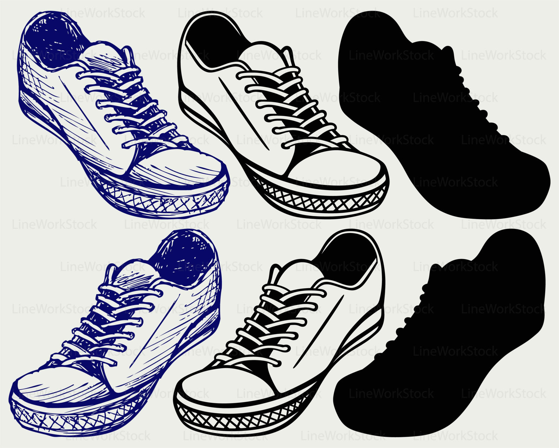Converse clipart silhouette Shoes converse shoes svg a