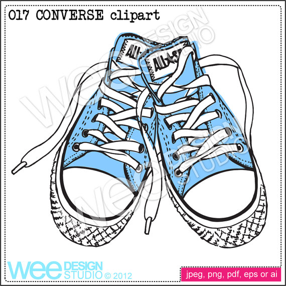 Drawn converse clip art Sneakers clipart & sketch eps