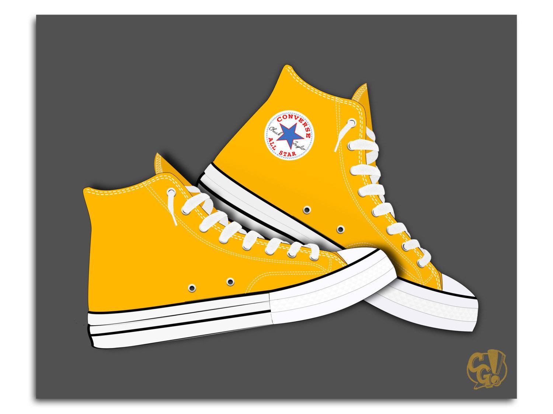 Converse clipart yellow Illustration Hi  Graphic Converse