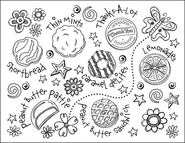 Amd clipart cookie Pages Printable Coloring Scout Pages