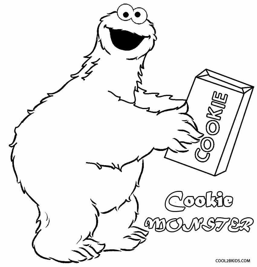 Cookie Monster clipart drawn #2