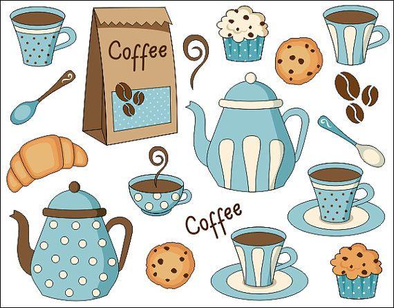 Vanilla Cupcake clipart cookie cupcake Coffee Time Clipart Digital Cookies