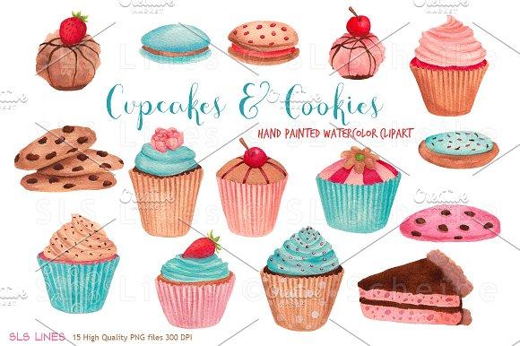 Vanilla Cupcake clipart cookie cupcake  Cupcakes on & Cookies