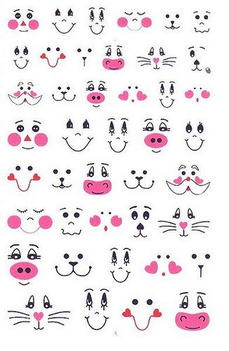 Drawn balloon Cookie collection with eyes clipart