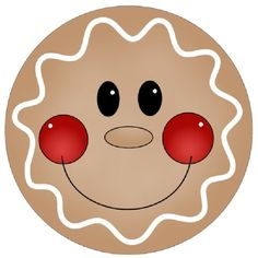 Gingerbread clipart face #1