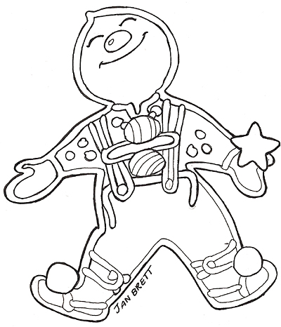 Gingerbread clipart gingerbread baby Artwork Coloring small of Mural