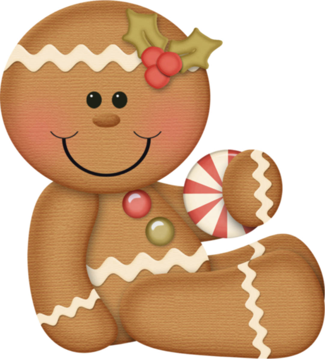 Gingerbread clipart face #7