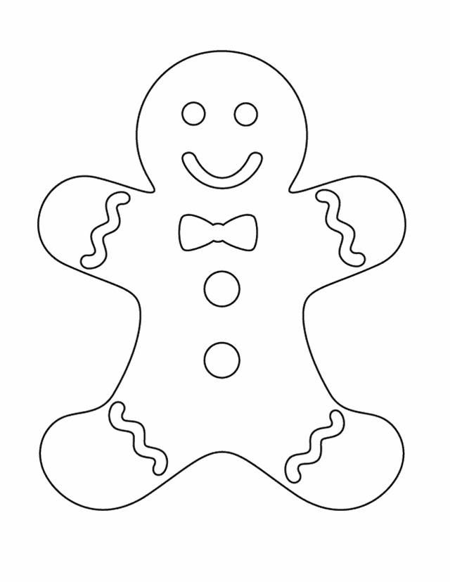 Gingerbread clipart cut out Gingerbread Coloring template Ginger on