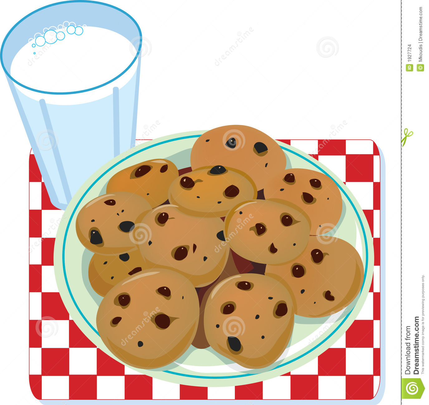 Santa clipart milk and cookie #12