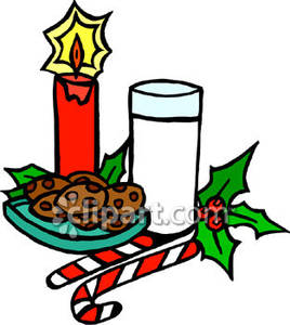 Santa clipart milk and cookie #11