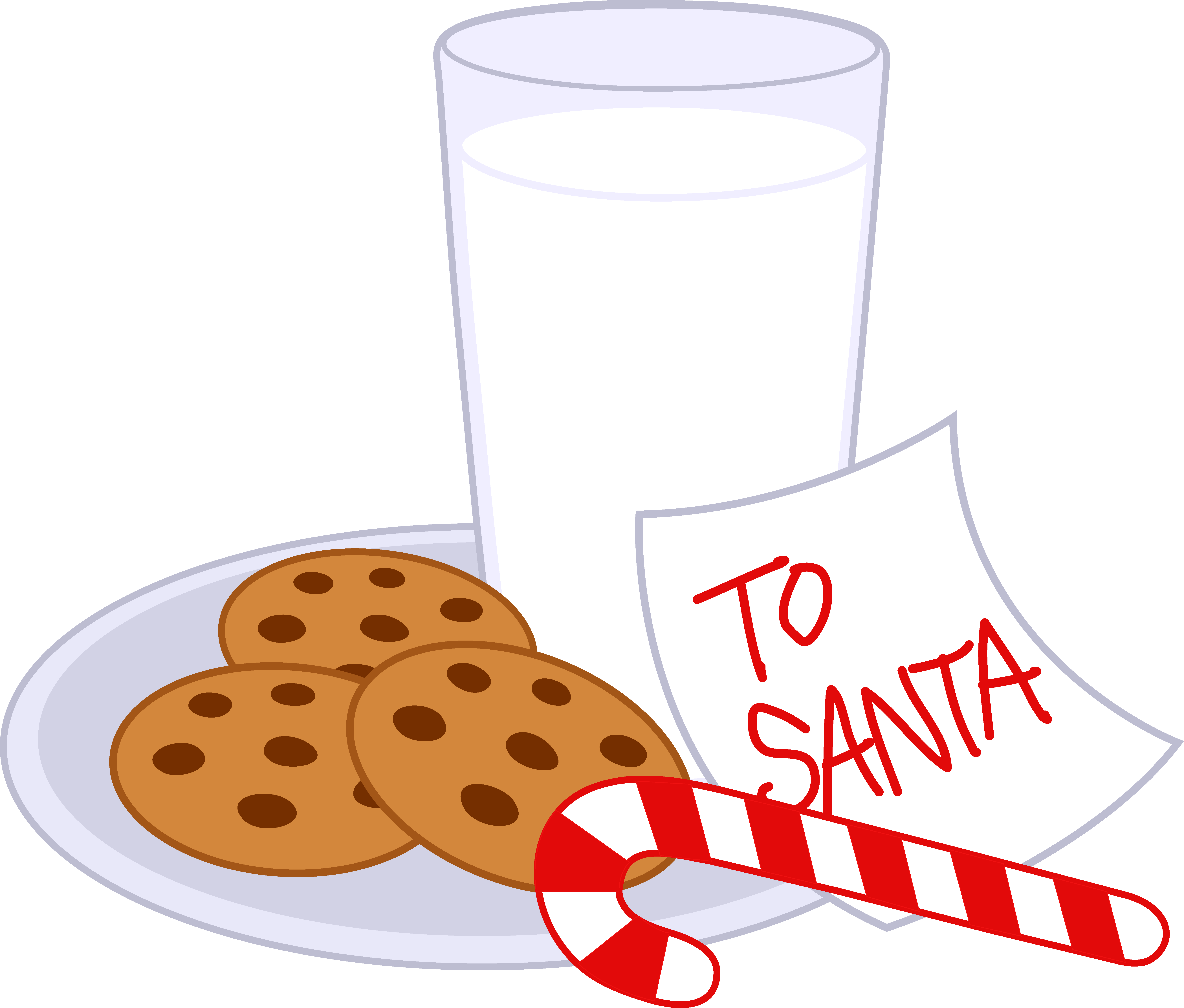 Santa clipart milk and cookie #8