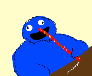 Cookie Monster clipart coke A cookies fun straw inhaling