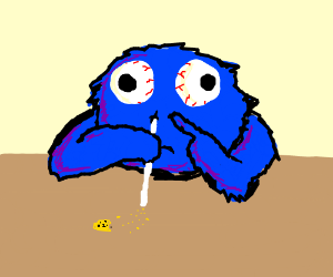 Cookie Monster clipart coke Monster inhaling cookies crumbs cookie