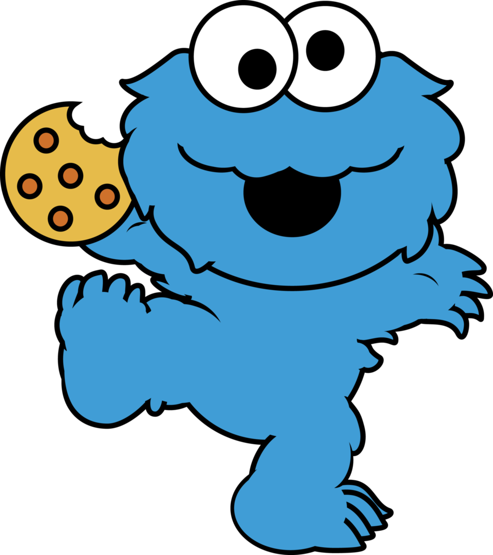 Cookie Monster clipart drawn #6